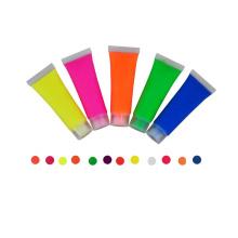 Abwaschbare ungiftige UV-Schwarzlicht-Neonfarbe-Gesichtsfarbe