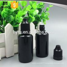 10ml 20ml 30ml black plastic dropper bottle
