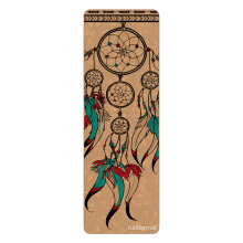 Yugland jute design yoga mats high quality fitness wooden custom natural rubber yoga mats