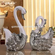 Animal design casamento favor casa decoração itens negócio presente cisne amantes resina estátua