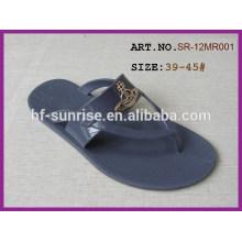 Мужские пвх желе обувь дешевые оптовые тапочки оптовые тапочки