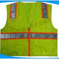 ES certificado clase 3 chaleco de seguridad de manga corta, PPE ropa de trabajo