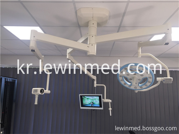 Hollow led lamp with camera system