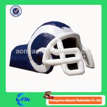 Nfl nuevo estilo inflable casco de fútbol con túnel
