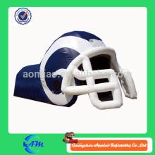 Nfl estilo novo capacete de futebol inflável com túnel