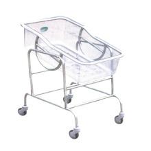 Hospital de acero inoxidable carro de bebé ajustable