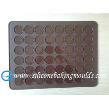 Big Durable Silicone Baking Mat , 48 Holes Silicone Macarons Mat Debossed Logo