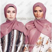 Tingyu original produção whosale noções básicas mulheres cor sólida cachecol hijab dubai elegante muçulmano