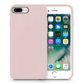 Rubber Pink Liquid Silicone Iphone8 Snap Case