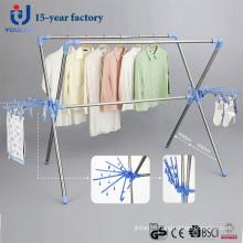 Нержавеющая сталь Выдвижной X-тип сушки вешалка для одежды