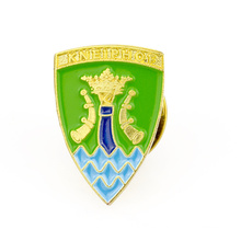 Cheap custom metal shield shaped lapel pin