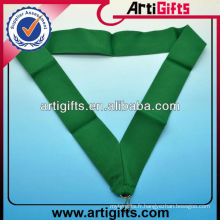 Green color polyester medal strap plain lanyard