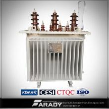 Transformateur de distribution de remplissage d'huile de 20kv transformateur de phase de 3,8kv 3