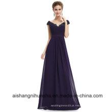 Vestidos De Dama De Honra Longos V Neck Chiffion Sexy Evening Dress