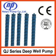 Bomba de água submersível vertical do poço profundo do poço (QJ)