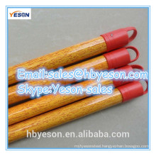 wood broom stick with wood grain pvc coating
