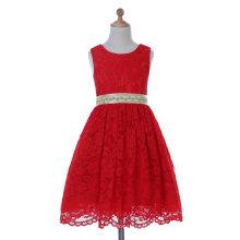 Дизайнер слоновая кость/Красный/фиолетовый цветок девушке платье для свадебные и торжественные