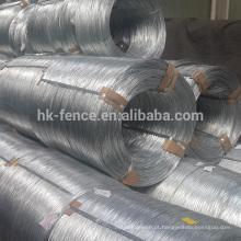Fio galvanizado de alta elasticidade direto da venda quente da fábrica, fio galvanizado mergulhado quente padrão do calibre 9 de China alibaba