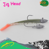 Soft EEL fishing lure wigh jig head hook--set packing jig head soft lure