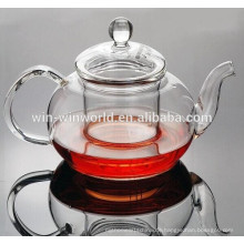 Werbeartikel 800ml Antique Daily Verwendung Klar Pyrex Glas Grace Tea Ware