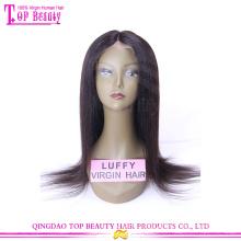 Top fashion hot sale brazilian hair yaki full lace wig silk top for black women
