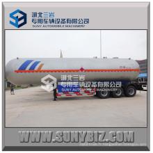 Remorque LPG à 3 essieux à trois cylindres Cubic Meters - Propylene LPG Semi-remorque