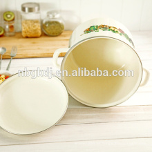 Enamelware chino al por mayor de alta olla de esmalte impresa