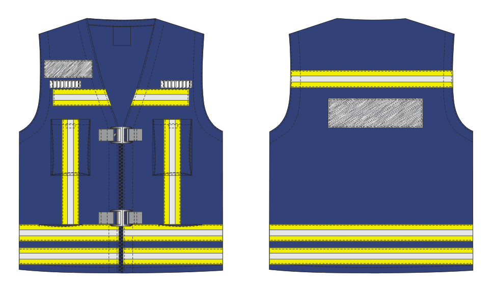 safety Flame Retardant Vest with reflective tape