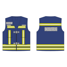 Vlamvertragend functioneel reflecterend vest