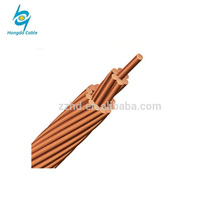 annealed plain 35mm 50mm tranded copper rope bare conductor for power cable line