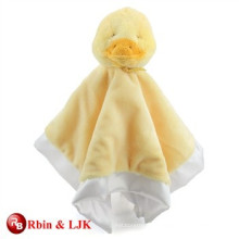 custom promotional lovely baby blanket with plush duck