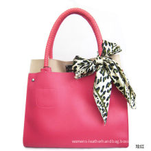 Popular Italian Leather Tote Bags Square Shape , Arm Candy Handbags