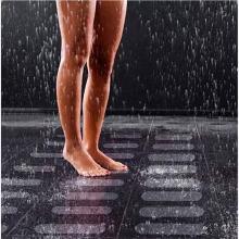 Alfombrillas de baño transparentes impermeables para bañera