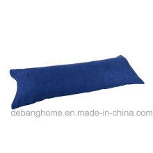 Beauty-Bedding Темно-синяя наволочка для тела из микрозамши