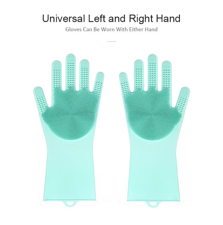 Dishwashing Gloves with Wash Scrubber