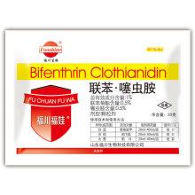 Neue Insektizid-Ableitung Wdg der Zusammensetzung: 0,5% + 0,5% Bifenthrin Clothianidin
