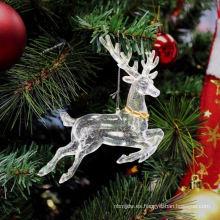 Decoración de ciervo de Navidad de plástico brillo
