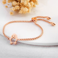 Rantai Adjustable Rose Gold Penguin Charm Bracelet