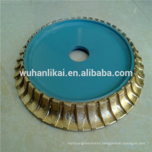 Full Bullnose Sintered Diamond Profile Wheel