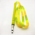 Tuyau de Shisha de narguilé acrylique jaune de 1.8m avec l'embouchure en verre (ES-HH-011-1)