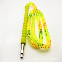 1.8m Yellow Acrylic Hookah Shisha Hose with Glass Mouthpiece (ES-HH-011-1)
