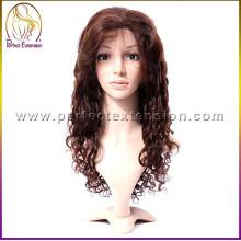 De buena calidad de la venta caliente virginal brasileña del frente del cordón pelucas del pelo humano del cordón dubai