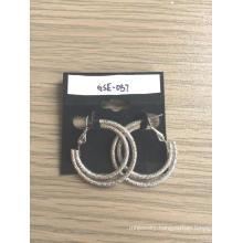 Double Metal Circle Pierced Earrings