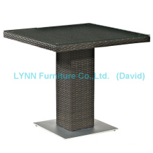 Wicker Furniture Modern Design Square Rattan Table