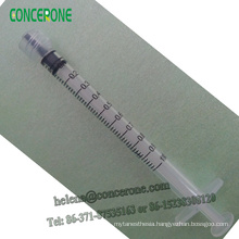 Medical Good Quality 1ml Luer Lock Syringe