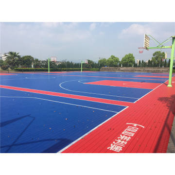 Quadra intertravada modular Telha Sports Floor