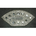 Lip Motif Hot Fix Rhinestone Trims