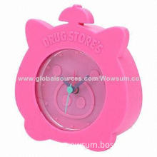 Silicone Alarm Desk Clock, Suitable for Kids, Made of Eco-friendly Silicone