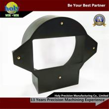 Qualidade agradável fazendo à máquina das peças do CNC do costume da capa da lente do ABS