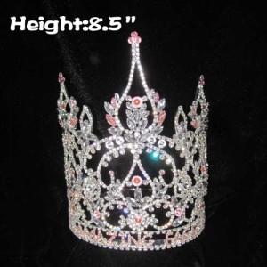 Coronas de concurso de cristal personalizadas de 8.5 pulgadas